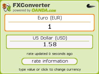 en la aplicacin podis introducir tanto el importe en euros y os da la conversin en dlares como al revs introducir los dlares y obtener el cambio en