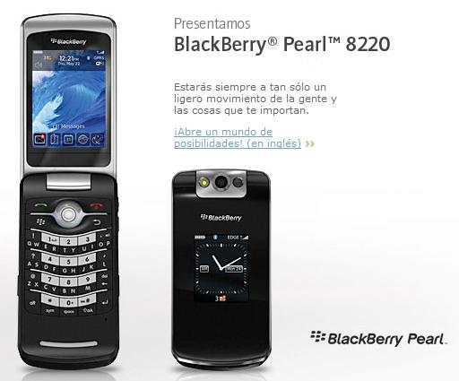 BlackBerry Pearl Flip en Telefónica de España este otoño ...