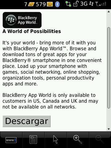 bb app world algún problema con la conexión al servidor