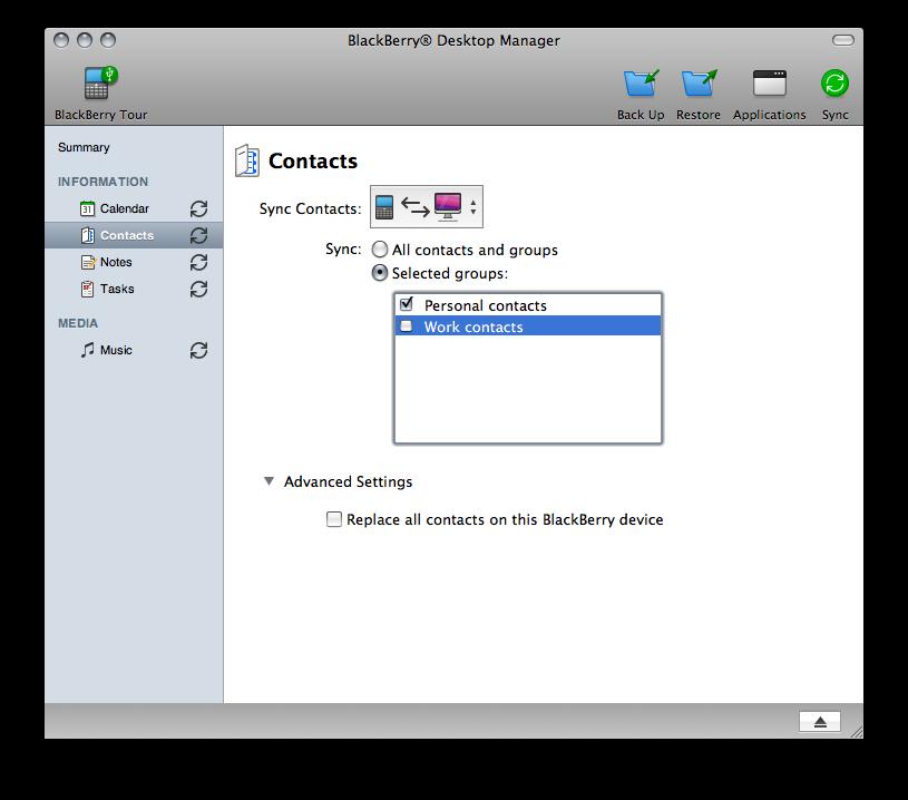 Blackberry software desktop for mac