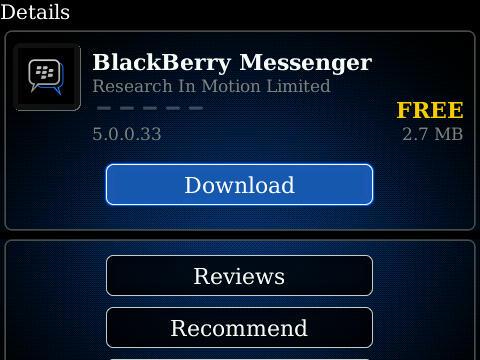 6.2.0.44 TÉLÉCHARGER BLACKBERRY MESSENGER