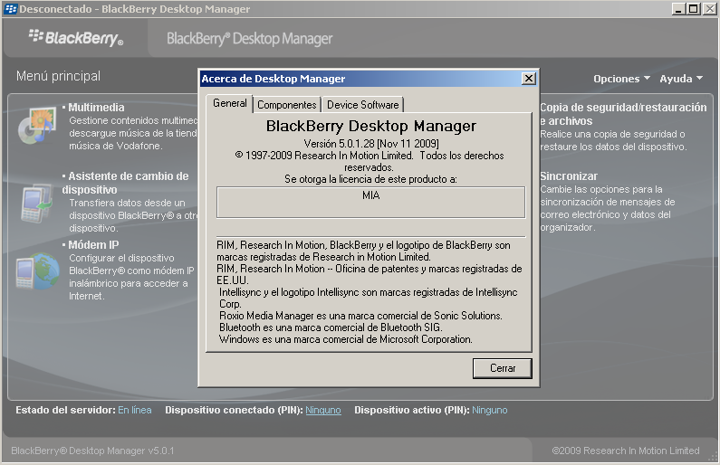 blackberry desktop manager 5.0.0.11