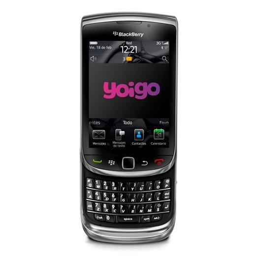 BlackBerry Torch 9800 con logo